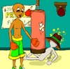 Cartoon: Champ in training (small) by Shantrey17 tagged dynomite johnson good advice