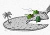 Cartoon: Invasion pizza (small) by julianloa tagged pizzapitch,pizza,invasion,war,tanks