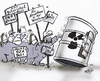 Cartoon: Atomkraftdemo (small) by HSB-Cartoon tagged demo demonstration akw bza atomkraftwerk brennelementezwischenlager