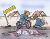 Cartoon: Frostschäden (small) by HSB-Cartoon tagged frost,winter,frostschaden,straße,fahrrad,verkehr