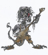 Cartoon: horrormusic (small) by HSB-Cartoon tagged horror music musik alien monster gituar gitarre hsbcartoon cartoon cartonmotiv motiv karikatur caricature airbrush airbrushdesign
