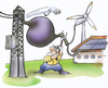 Cartoon: Ökostrom (small) by HSB-Cartoon tagged öko,ökostrom,energie,erneuerbareenergie,windrad,fotovoltaik,sonnenenergie,windenergie,strom,stromkabel,stromleitung,trafo,transformator,sicherung,landwirt,energiewirt,bauer,bauernhof,natur,umwelt,cartoon,karikatur,hsb,airbrush