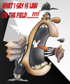 Cartoon: referee (small) by HSB-Cartoon tagged referree,sport,football,americanfootball,law,pitch,schiedsrichter