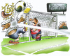 Cartoon: soccer (small) by HSB-Cartoon tagged soccer,goal,football,game,stadion,fußball,tor,torwart,goalkeeper,zuschauer,ball,airbrush