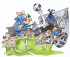 Cartoon: Spitzenspiel (small) by HSB-Cartoon tagged fussball ball sport spiel liga regionalliga fussballspieler tor goal spitzenspiel meister cartoon karikatur sportkarikatur airbrush