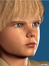 Cartoon: Little Anakin Skywalker (small) by Cartoonfix tagged jake,lloyd,as,little,anakin,skywalker