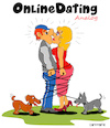 Cartoon: OnlineDating Analog (small) by Cartoonfix tagged online,dating,analog