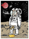 Cartoon: Alivio (small) by Wadalupe tagged astronauta,espacio,luna,planetas,galaxia,astronomia