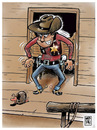 Cartoon: dodge city esta a salvo (small) by Wadalupe tagged wsestern,pistolero,gunman,sheriff,dodge,duelo