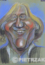 Cartoon: Gerard Depardieu (small) by Darek Pietrzak tagged karikatur