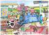 Cartoon: The railway station (small) by dotmund tagged railway,station