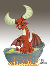 Cartoon: A nice cool bath (small) by campbell tagged devil,satan,lucifer,prince,darkness,rubber,duck