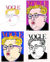 Cartoon: The Fashion of Our Times (small) by nerosunero tagged war,peace,fashion,leaders,korea,northkorea,vogue,trump,kimjongun