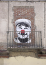 Cartoon: Clown- Madrid (small) by ANTRUEJO-ENCONTRADO tagged antruejo,clwon,payaso,street,art,calle,arte,urbano