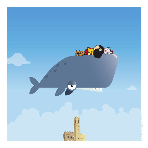Cartoon: Vincenzina (medium) by Giuseppe Scapigliati tagged balena,whale,amore,love
