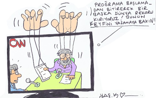 Cartoon: biased program (medium) by yasar kemal turan tagged biased,program