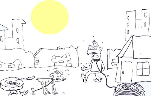 Cartoon: floss long (medium) by yasar kemal turan tagged floss,long