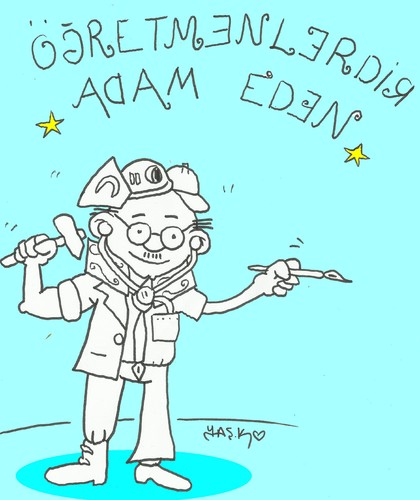 Cartoon: Happy Teachers Day (medium) by yasar kemal turan tagged happy,teachers,day