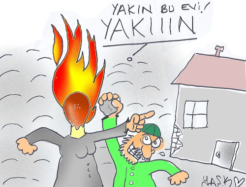 Cartoon: provocateur woman (medium) by yasar kemal turan tagged provocateur,woman