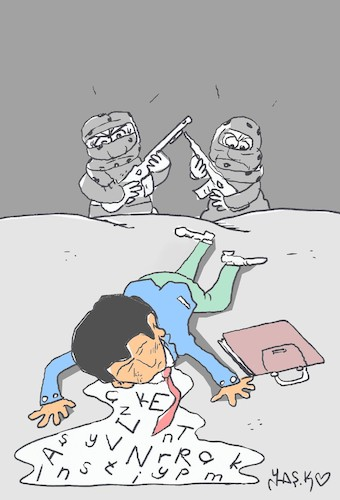 Cartoon: Young teacher (medium) by yasar kemal turan tagged young,teacher