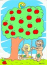 Cartoon: first swing (small) by yasar kemal turan tagged adam eve first swing