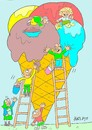 Cartoon: great ice cream (small) by yasar kemal turan tagged great,ice,cream
