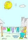 Cartoon: offended (small) by yasar kemal turan tagged offended,washing,women,do,the,laundry,sun,dry