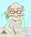 Cartoon: Oguz Aral-master (small) by yasar kemal turan tagged oguz aral master artist