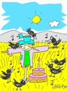 Cartoon: surprise friends (small) by yasar kemal turan tagged surprise,friends,crow,railing,birthday,love