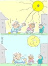 Cartoon: very hot (small) by yasar kemal turan tagged very,hot,sun,weather,break