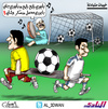 Cartoon: Mutual disappointments (small) by adwan tagged alhilal,fc,and,qadisiyah,saudi,arabia
