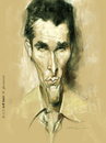 Cartoon: Christian Bale (small) by Jeff Stahl tagged christian,bale,batman,bruce,wayne,caricature,portrait,jeff,stahl