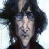 Cartoon: John Lennon by Jeff Stahl (small) by Jeff Stahl tagged john lennon beatles birthday tribute caricature jeff stahl