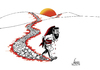 Cartoon: Anti Violence (small) by aungminmin tagged cartoons,terrorism