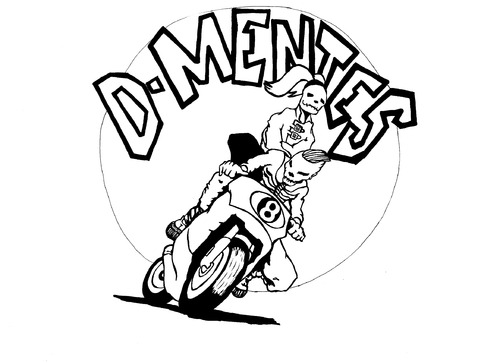 Cartoon: D-EMENTES (medium) by RAMONETX tagged mutant,love,bike,monster,zombie