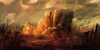 Cartoon: Desert (small) by alesza tagged digital,art,painting,illustration,desert,landscape,nature,environment