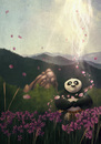 Cartoon: Recreation - Kung Fu Panda (small) by alesza tagged recreation kung fu panda take break fan art movie digital painting drawing