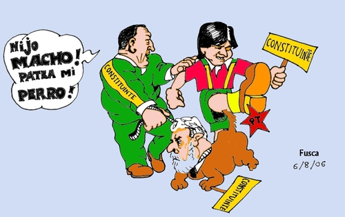 Cartoon: Chavez Morales Lula (medium) by Fusca tagged autocrats,bolivarian,morales,chavez,lula