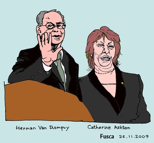 Cartoon: Rompuy and Ashton (medium) by Fusca tagged international,politics,europe