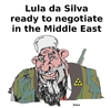 Cartoon: Lula appointed to negotiate (small) by Fusca tagged dictators solidarity tyrants help terror