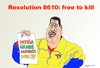 Cartoon: Maduro the Venezuelan Dictator (small) by Fusca tagged terror,bolivarian,dictatorship,tyrant,castro,communism