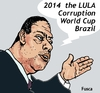 Cartoon: World Corruption Cup Brazil 2014 (small) by Fusca tagged corruption,lula,braxil,world,cup,2014