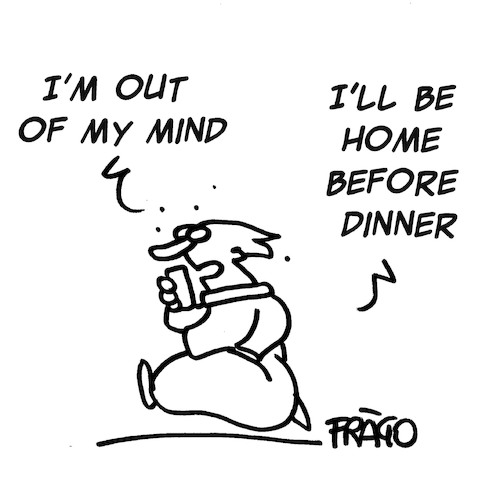 Cartoon: Out of mind (medium) by fragocomics tagged out,of,mind,out,of,mind