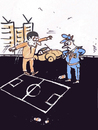 Cartoon: Football (small) by Monica Zanet tagged football,zanet