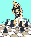 Cartoon: Untitled (small) by Monica Zanet tagged statue chess free zanet
