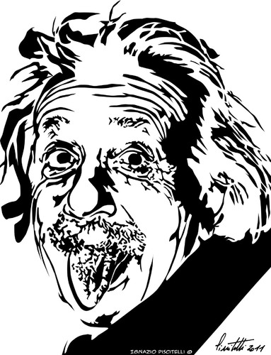 Cartoon: albert einstein (medium) by ignant tagged einstein,cartoon