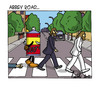 Cartoon: Abbey Road (small) by ignant tagged the,beatles,cartoon