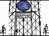 Cartoon: Arbeit macht frei (small) by Zoran Spasojevic tagged emailart,digital,collage,graphics,arbeit,macht,frei,zoran,spasojevic,paske,kragujevac