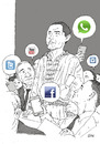 Cartoon: Freedom of Speech (small) by Joen Yunus tagged cartoon,drawing,freedom,speech,society,normanrockwell,socialmedia,joen