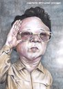 Cartoon: Kim Jong Il (small) by Joen Yunus tagged pencil watercolor caricature